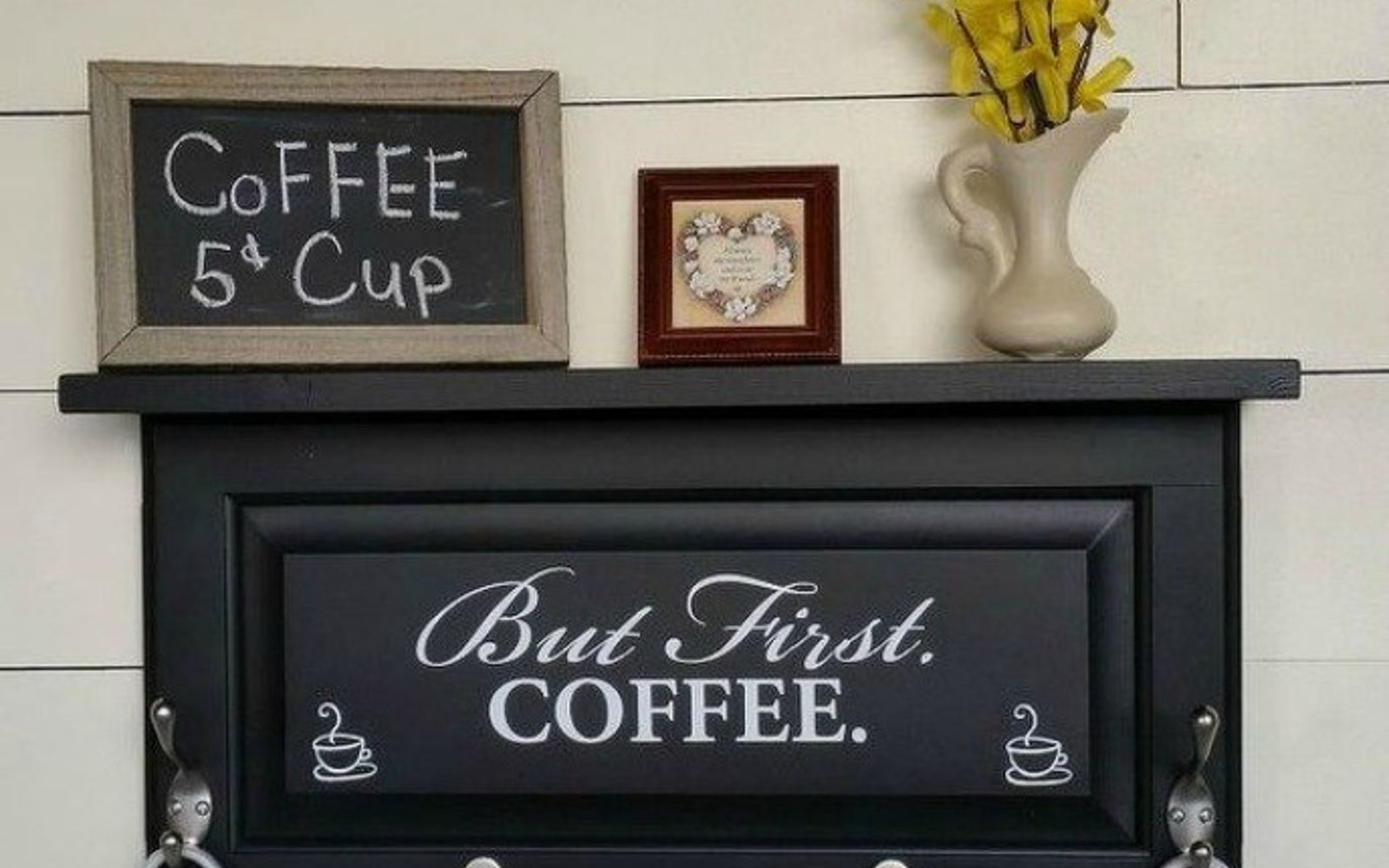 s rip off your cabinet doors for these brilliant upcycling ideas, Build a coffee station with it