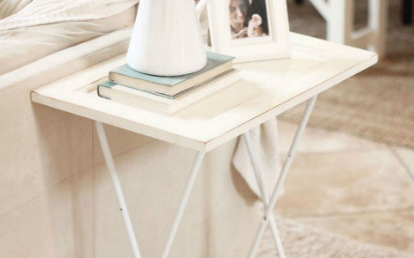 s rip off your cabinet doors for these brilliant upcycling ideas, Add some legs for a chic side table