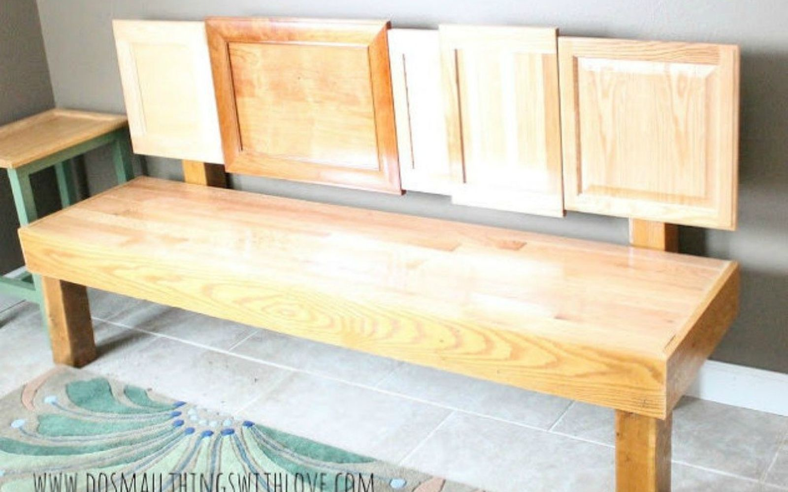 s rip off your cabinet doors for these brilliant upcycling ideas, Attach different ones into a unique bench