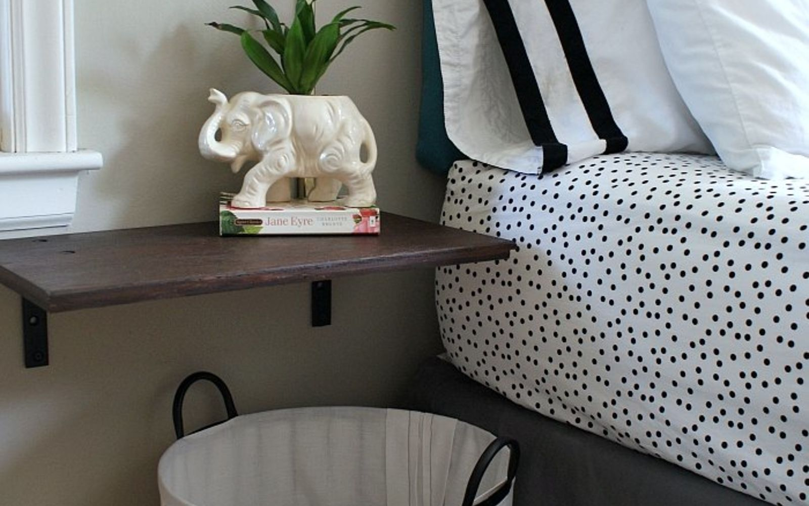s rip off your cabinet doors for these brilliant upcycling ideas, Make a wall mounted nightstand