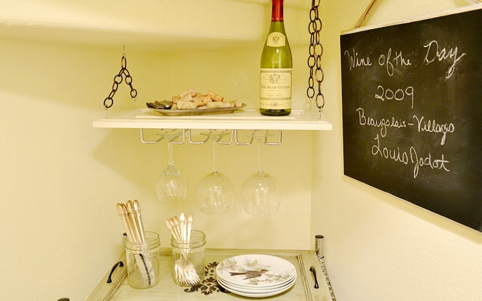 s rip off your cabinet doors for these brilliant upcycling ideas, Transform it into a hanging wine rack
