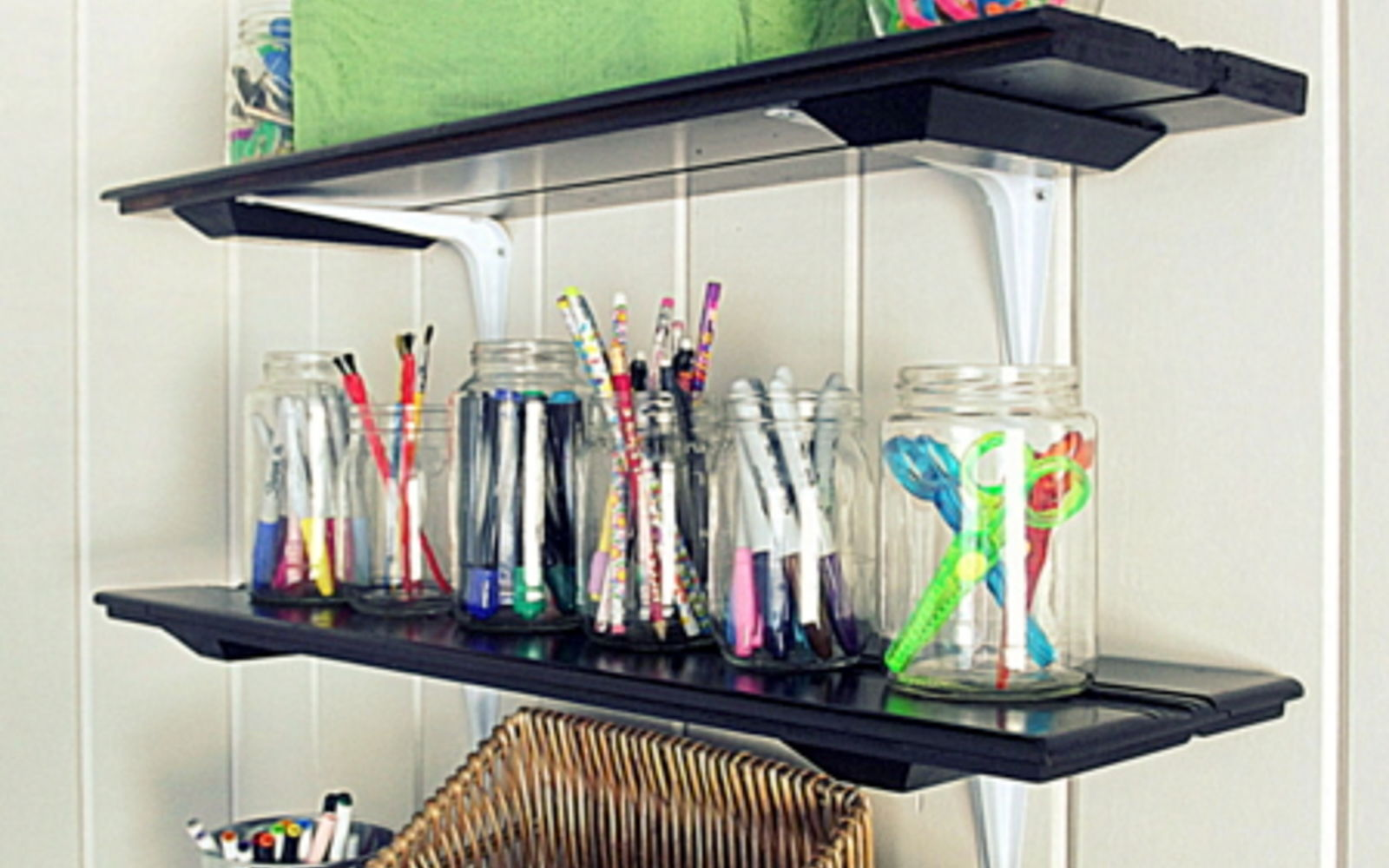 s rip off your cabinet doors for these brilliant upcycling ideas, Repurpose them into shelves