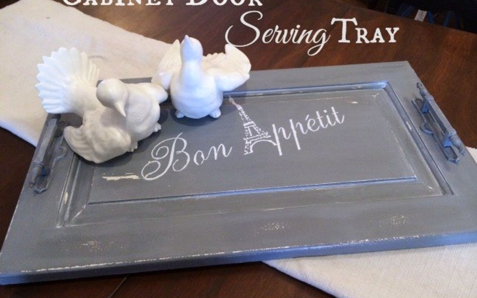 s rip off your cabinet doors for these brilliant upcycling ideas, Make a distressed serving tray