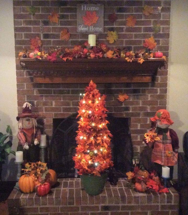my lighted fall tree