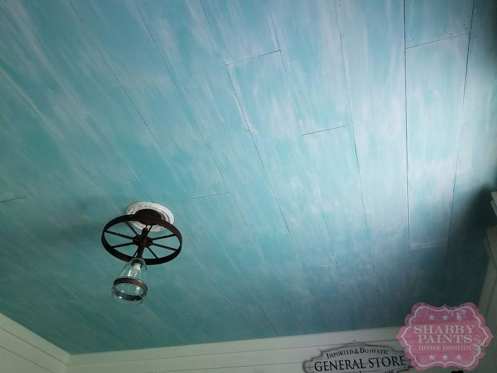 textured ceiling makeover