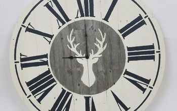 how to make a diy farmhouse wall clock using reclaimed wood