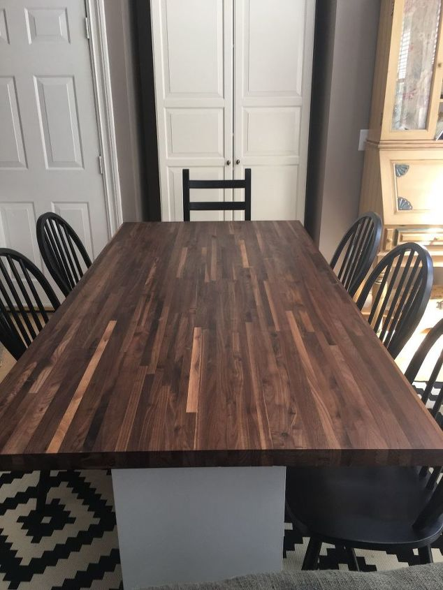Kitchen Table Redo Part 2 Butcher Block Ikea Hack Hometalk