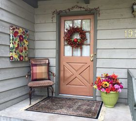 fall front porch copper door Without the pop of blue & Fall Front Porch u0026 Copper Door | Hometalk pezcame.com