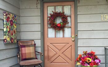 Fall Front Porch & Copper Door