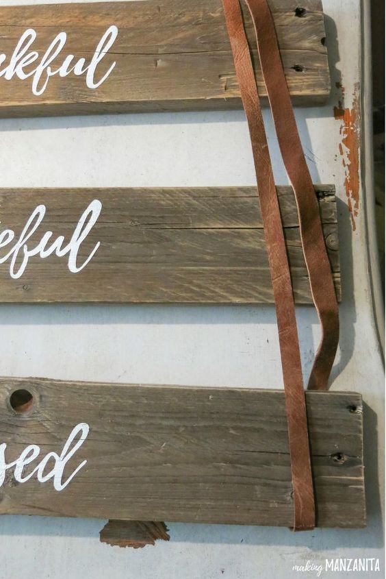 rustic wood sign for fall