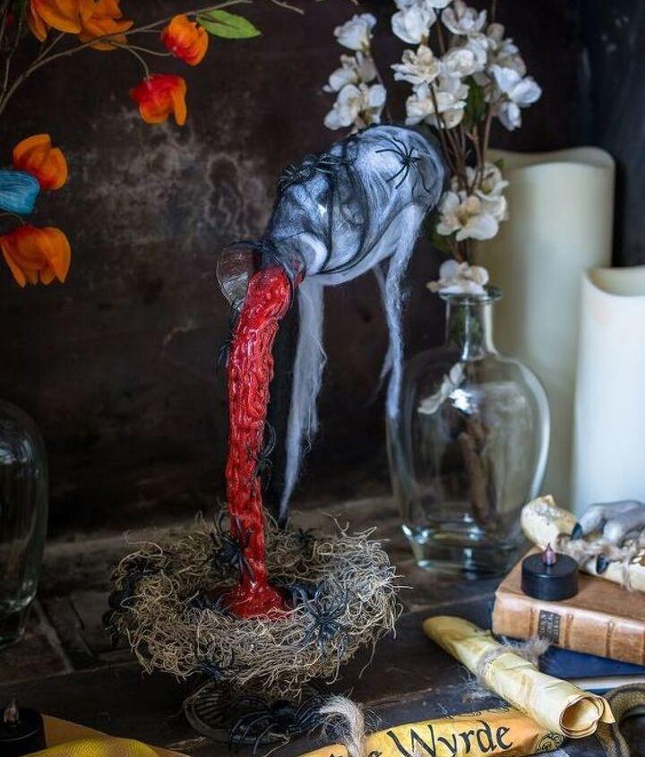 magical floating potion bottle
