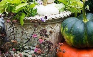 green cream fall planter diy