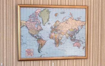 make a corkboard world map