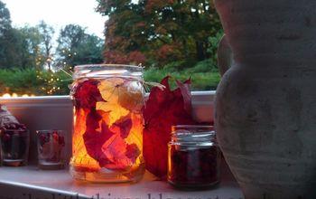 mason jar fall crafts enchanted autumn leaf jar