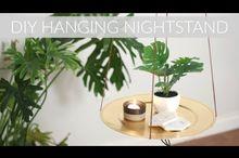 diy hanging nightstand side table