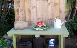 potting table serving table grill table