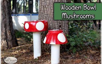 make some wooden bowl mushrooms