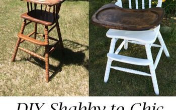 shabby to chic highchair