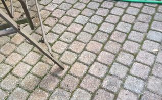 q how do i clean a brick paver patio that is discolored
