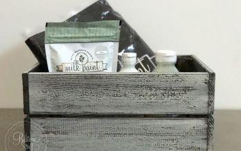ikea pine box hack with miss mustard seed s milk paint