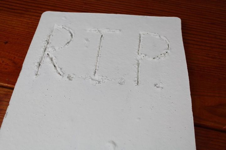 diy concrete tombstones