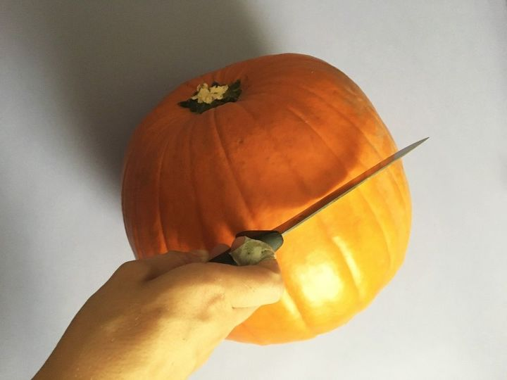s bibbidi bobbidi boo 3 pumpkin ideas for a magical halloween, Step 2 Cut the entire top of the pumpkin