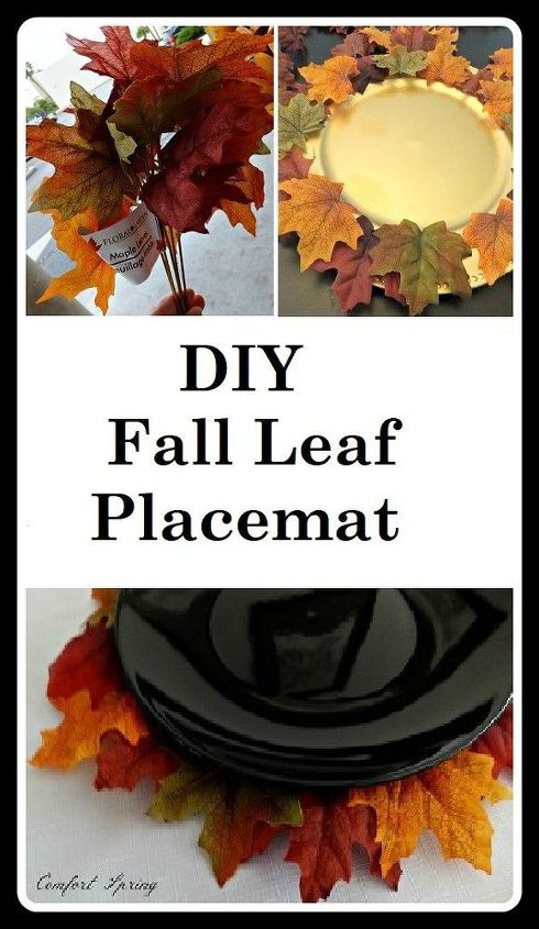 pier one inspired autumn leaf faux placemat