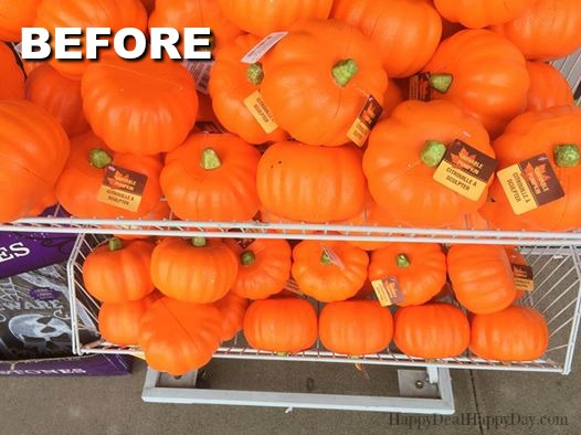 dollar store pumpkin makeovers diy glitter pumpkins three ways