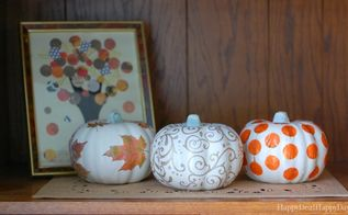 dollar store pumpkin makeovers diy glitter pumpkins three ways