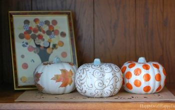 Dollar Store Pumpkin Makeovers - DIY Glitter Pumpkins Three Ways!