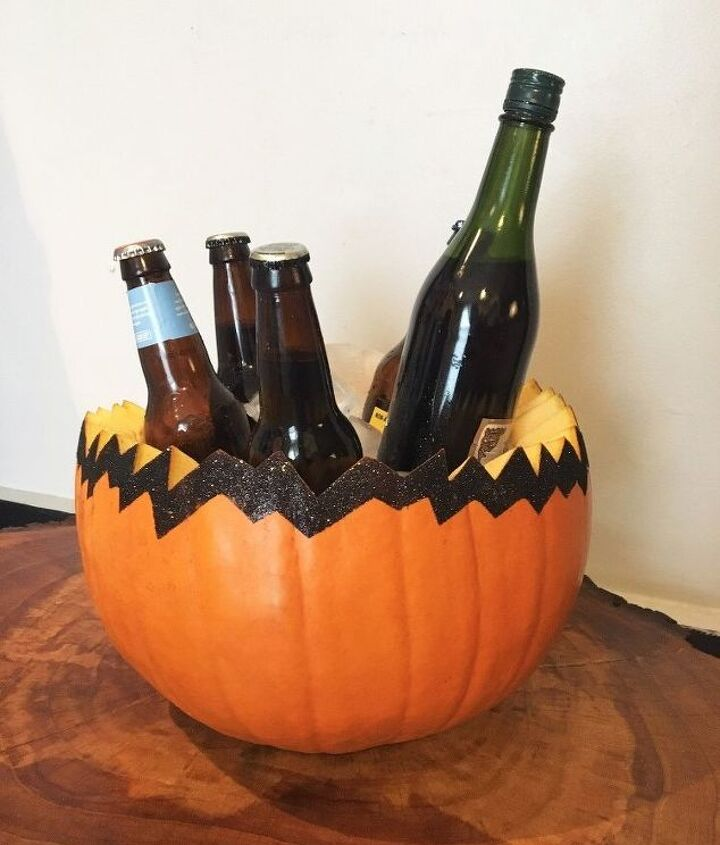s 13 popular ways to decorate a pumpkin with little or no carving, Make an autumn party pumpkin bowl for 10