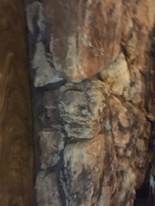 Installing A Mantel On Rock Fireplace, Floating Mantel On Uneven Stone Fireplace
