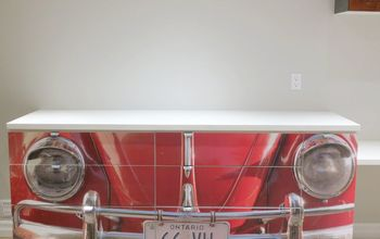 upcycle kitchen cabinets into a one of a kind desk