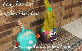 quick and easy painted pumpkin monsters