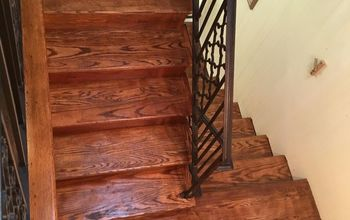 refinishing our carpeted stairs