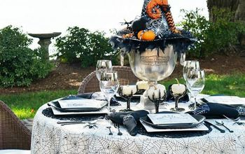 Create a Bewitching Halloween Table Centerpiece With a Witch Hat