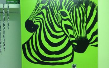 Daughter #2's Room... Lime Green and Zebra Print
