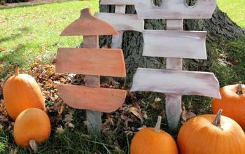DIY Scrap Wood Ghost & Pumpkin Decorations!