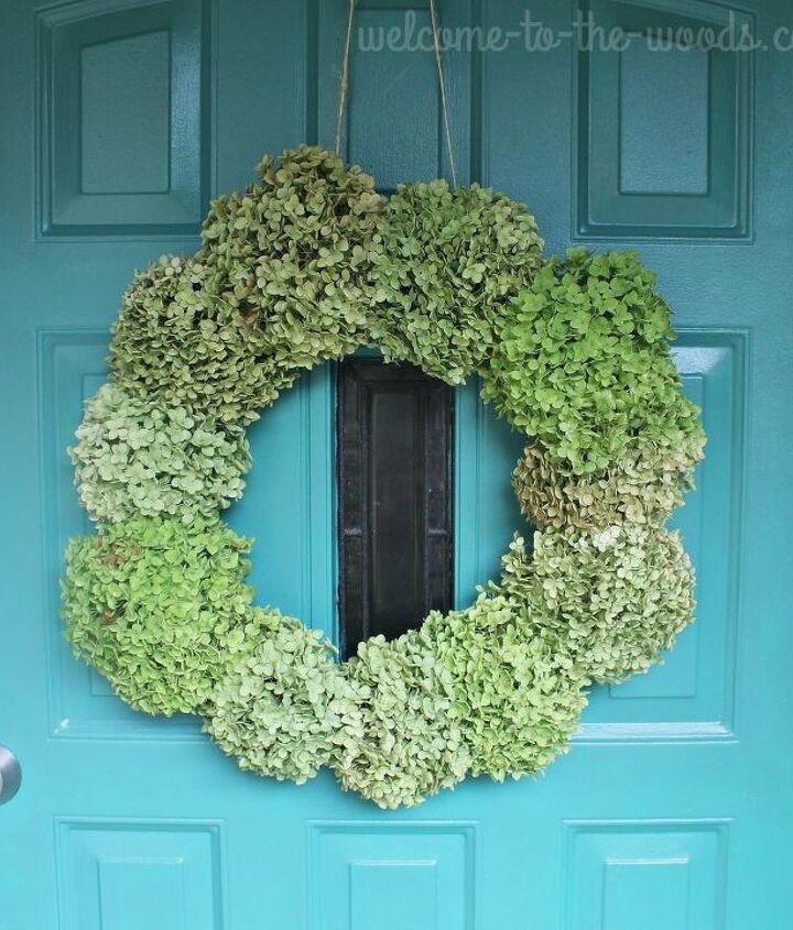 easy cheap annabelle hydrangea wreath for fall