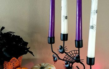 turn used candles into a spooky halloween decor