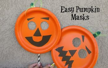 Easy Paper Plate Pumpkin Mask
