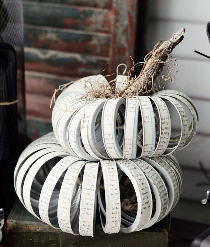 how to make mason jar lid pumpkins