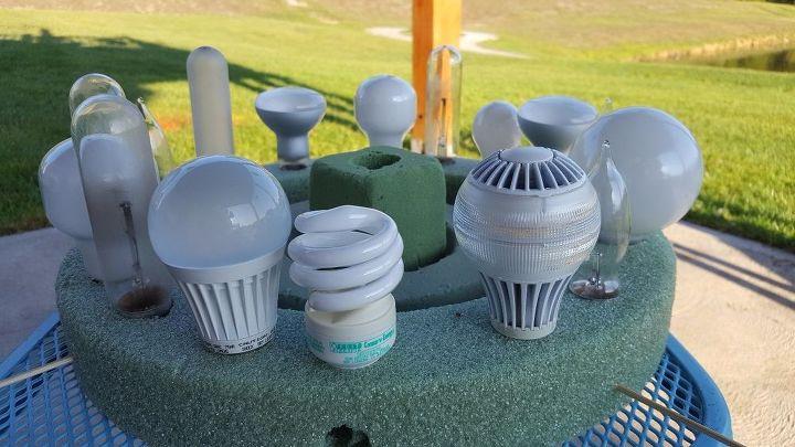 light bulb centerpiece
