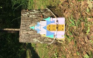 gnome home tree stump oak tree fairy door part 1 of 2 postings