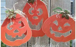 painted pumpkin yard stakes diy