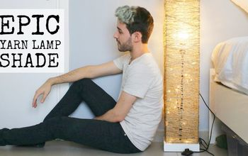 DIY EPIC YARN LAMP SHADE + IKEA RENOVATION |DanDIY
