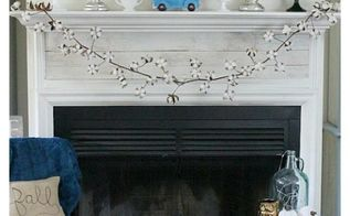 fall mantel with farmhouse touches