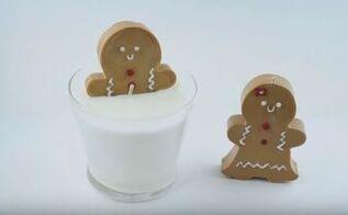diy gingerbread candle cheap easy gift idea
