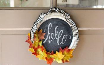 Dollar Store Silver Tray Wreath