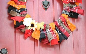 Easy Fall Bandana Wreath